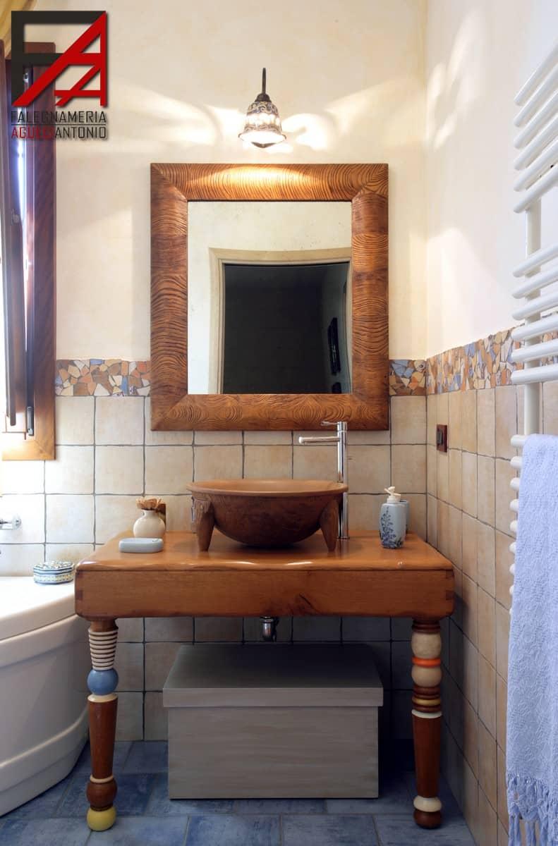 Arredamento bagno falegnameria agueci antonio mobili for Arredo bagno trapani