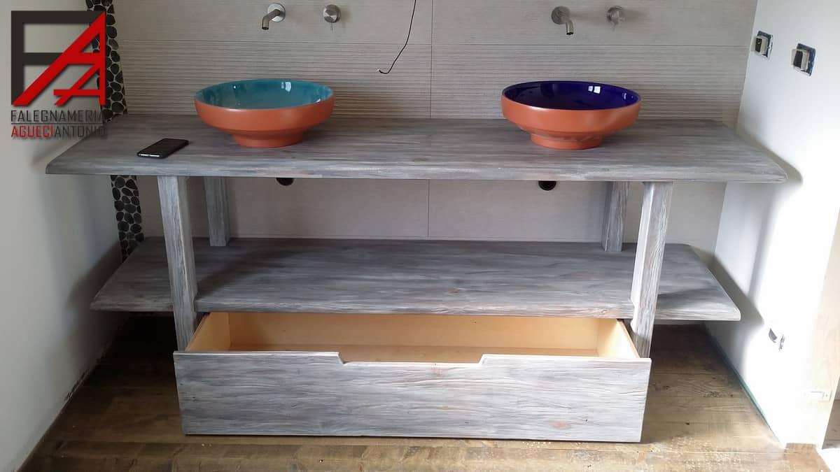 Falegnameria agueci antonio mobile bagno in legno massello