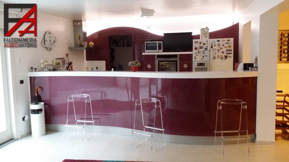 Cucina Con Boiserie : Falegnameria agueci antonio cucina curva con piano in corian