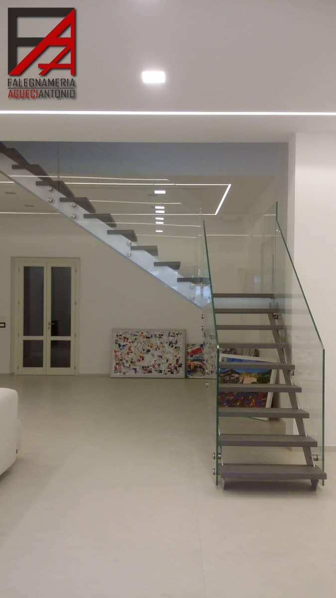 Falegnameria Agueci Antonio - scala con gradini in legno e balaustra ...